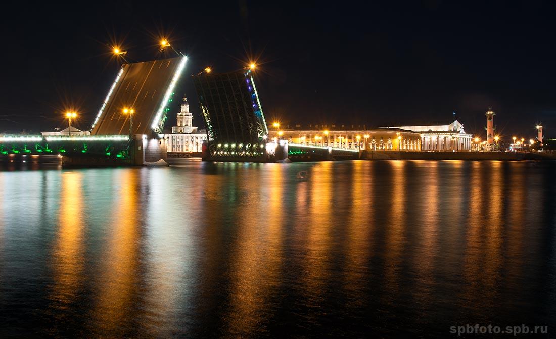 Дворцовый мост ночной дворцовый мост