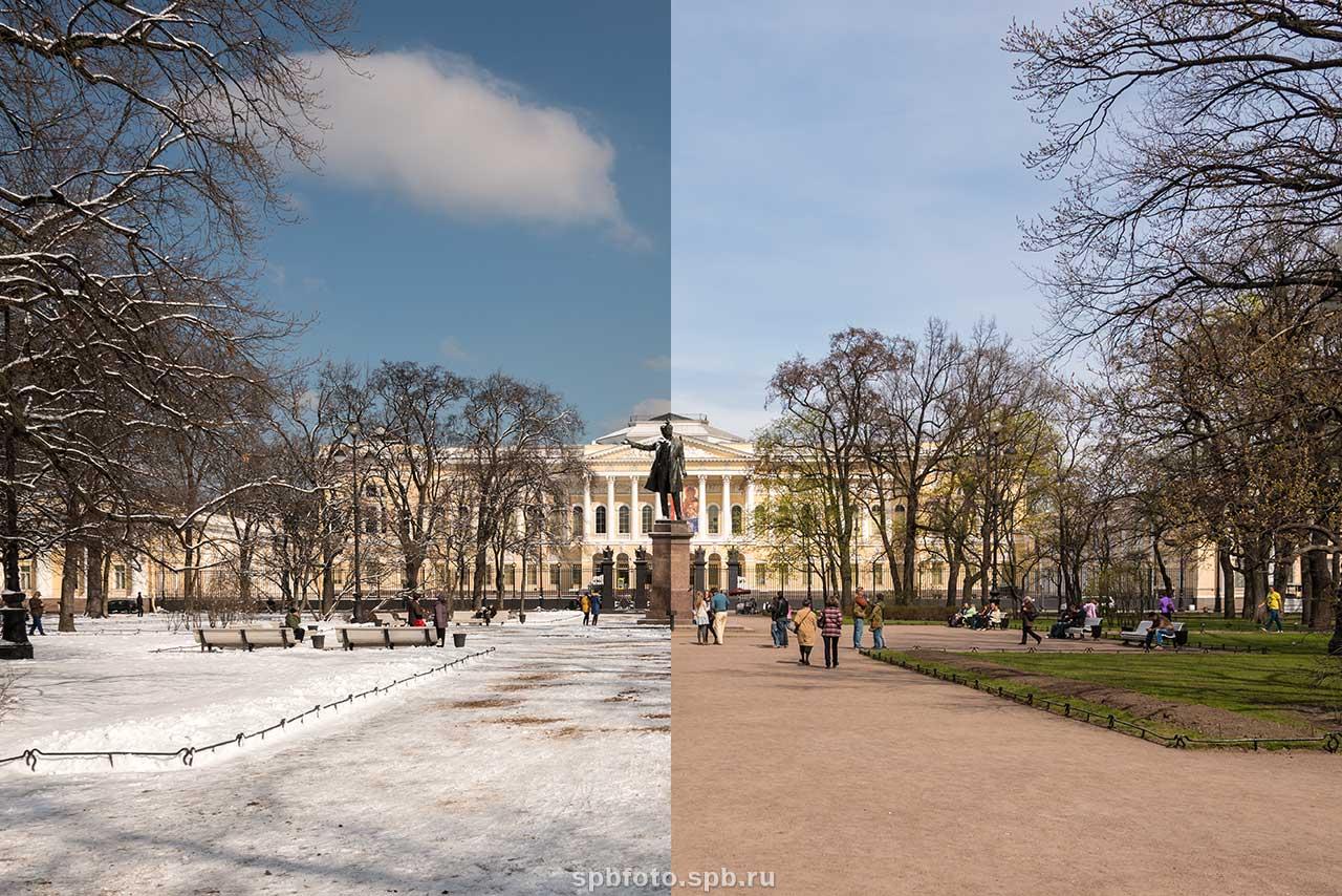 Из серии времена года русский музей