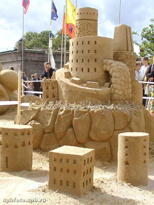 Замок из песка. Песчаный фестиваль. Фото Санкт-Петербурга и пригородов